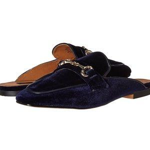 Steve Madden Blue Velvet Mules